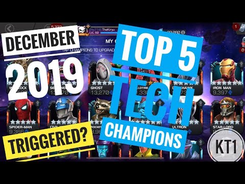 Top 5 Tech Champions In MCOC! December 2019!