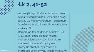 #Ewangelia   30 grudnia 2018   (Łk 2, 41-52)