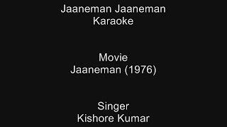 Jaaneman Jaaneman - Karaoke - Jaaneman (1976) - Kishore Kumar