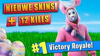 12 KILLS SOLO WIN - NIEUWE SKINS!? 😱 - Fortnite Battle Royale (Nederlands)