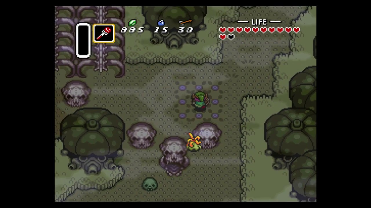 The Legend of Zelda: A Link to the Past 12: Lost Woods Palace (3) Dark World