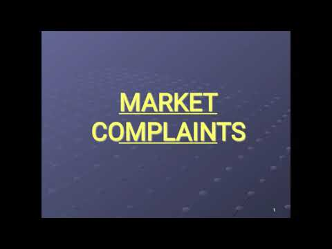 Handling of market complaint and route cause analysis with CAPA to close Market complain.
