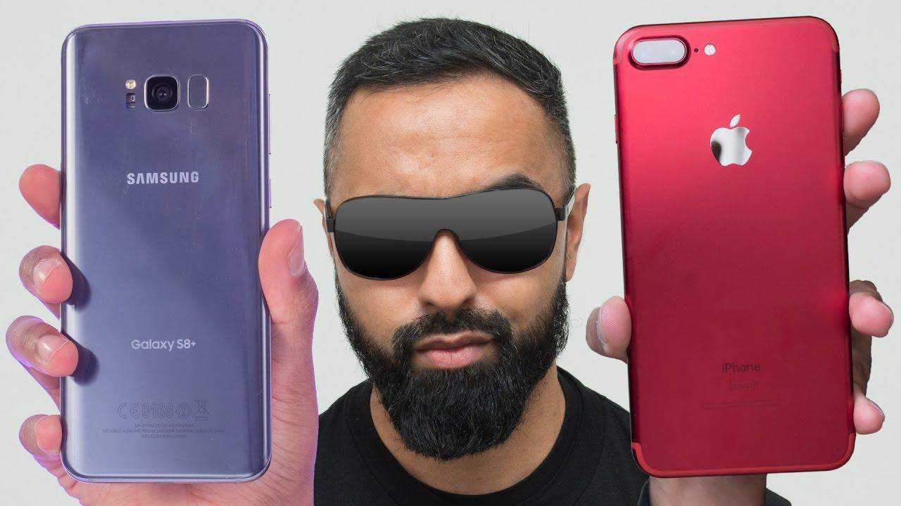 Molto Samsung Galaxy S8 Plus vs iPhone 7 Plus - YouTube FI64
