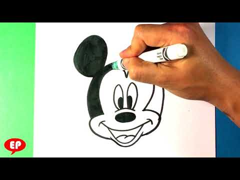 How To Draw Mickey Mouse Head - Drawing Step By Step For Beginners - Easy Pictures To Draw Simple