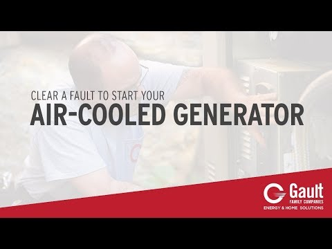 How To: Clear a Fault to Start your Air-Cooled Generator