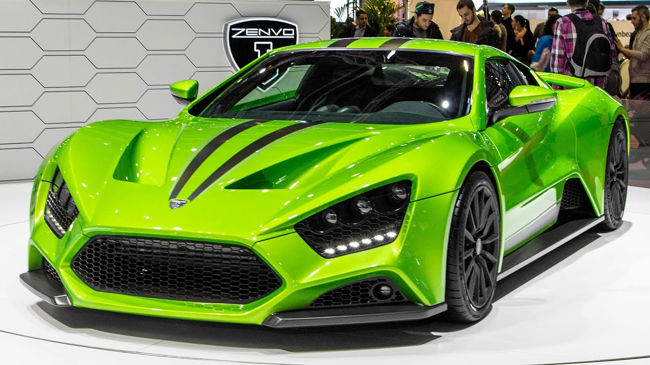 Beautiful LIME GREEN ZENVO ST1   GENEVA MOTOR SHOW 2015   YouTube