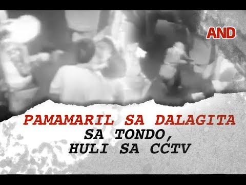 Pamamaril sa dalagita sa Tondo, huli sa CCTV