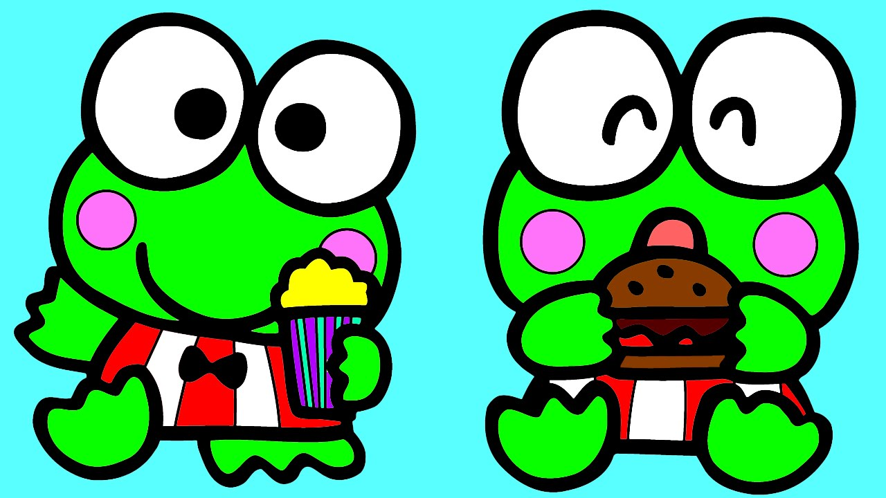 keroppi frog and hello kitty coloring for kids keroppi baby
