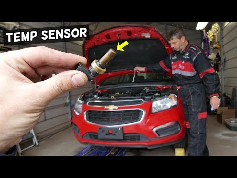 COOLANT TEMPERATURE SENSOR REPLACEMENT LOCATION CHEVROLET CRUZE CHEVY SONIC