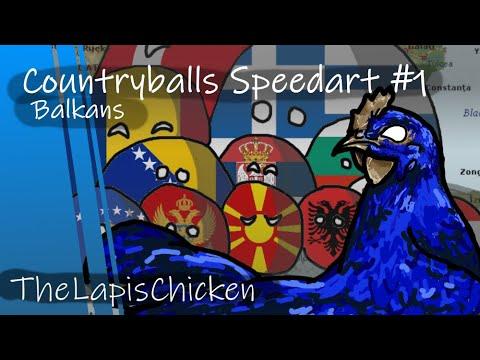 Countryballs Speedart #1 | Balkans