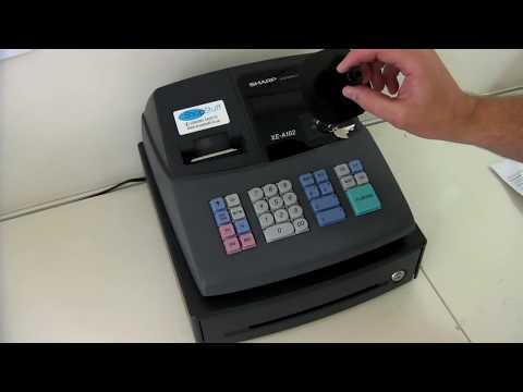 sharp xe a102 cash register youtube rh youtube com Microwave Oven Sharp R 308J Microwave Oven Sharp R 308J