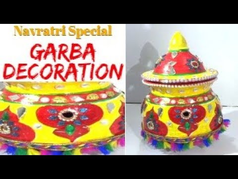 How to Decorate Garba | Navratri Special | Garba designing | Gujrati style Decoration