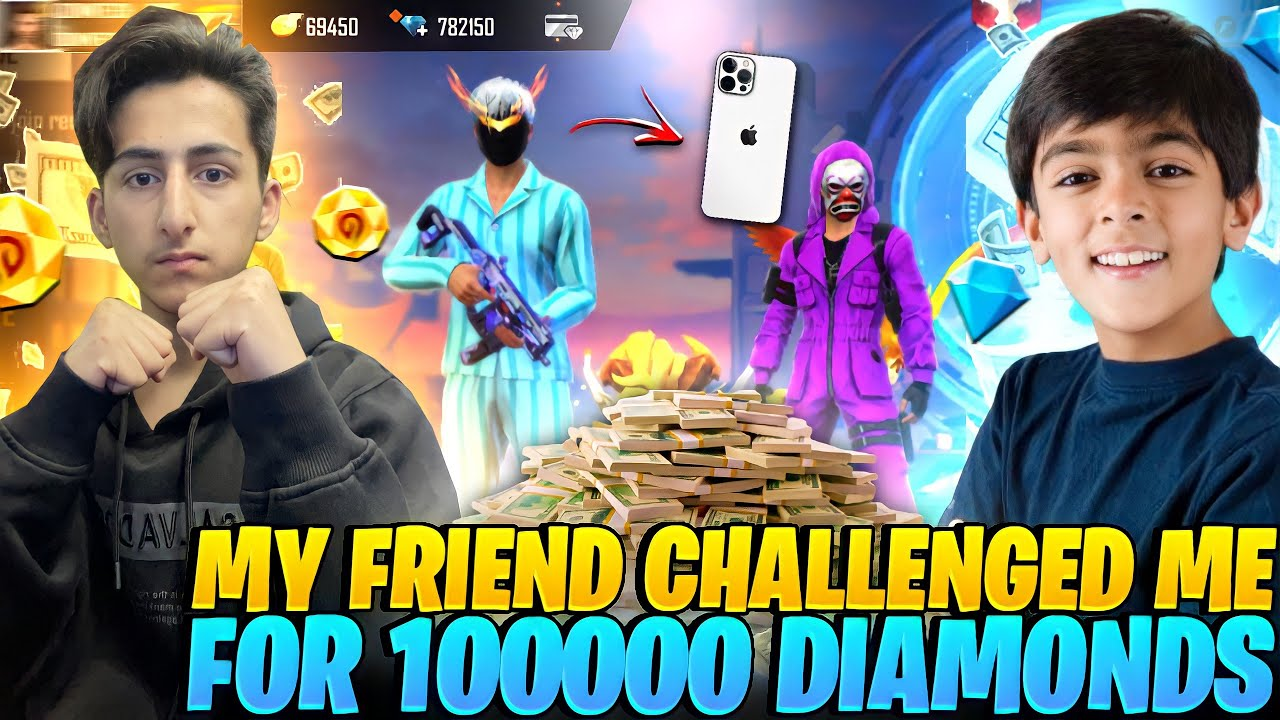Rich Kid Challenge Me For 1 V 1?For 100000??- Garena Free Fire