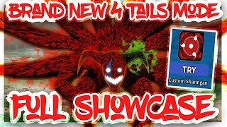 [HUGE NEW UPDATE]NEW 4 TAILS MODE FULL SHOWCASE|HOW TO MAKE YOUR OWN IN KG NRPG|ROBLOX Naruto Beyond