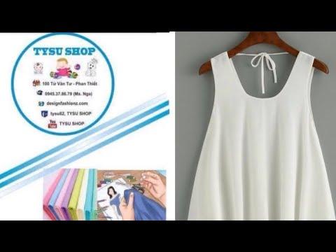 486_thiết kế áo sát nách hai tầng|dạy cắt may online miễn phí | sewing online class free | tysushop