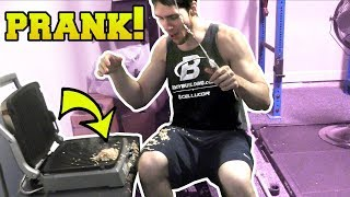 GROSS GRILL PRANK!!!