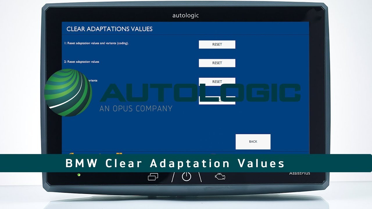 BMW Adaptation Clearing & Resetting - How To