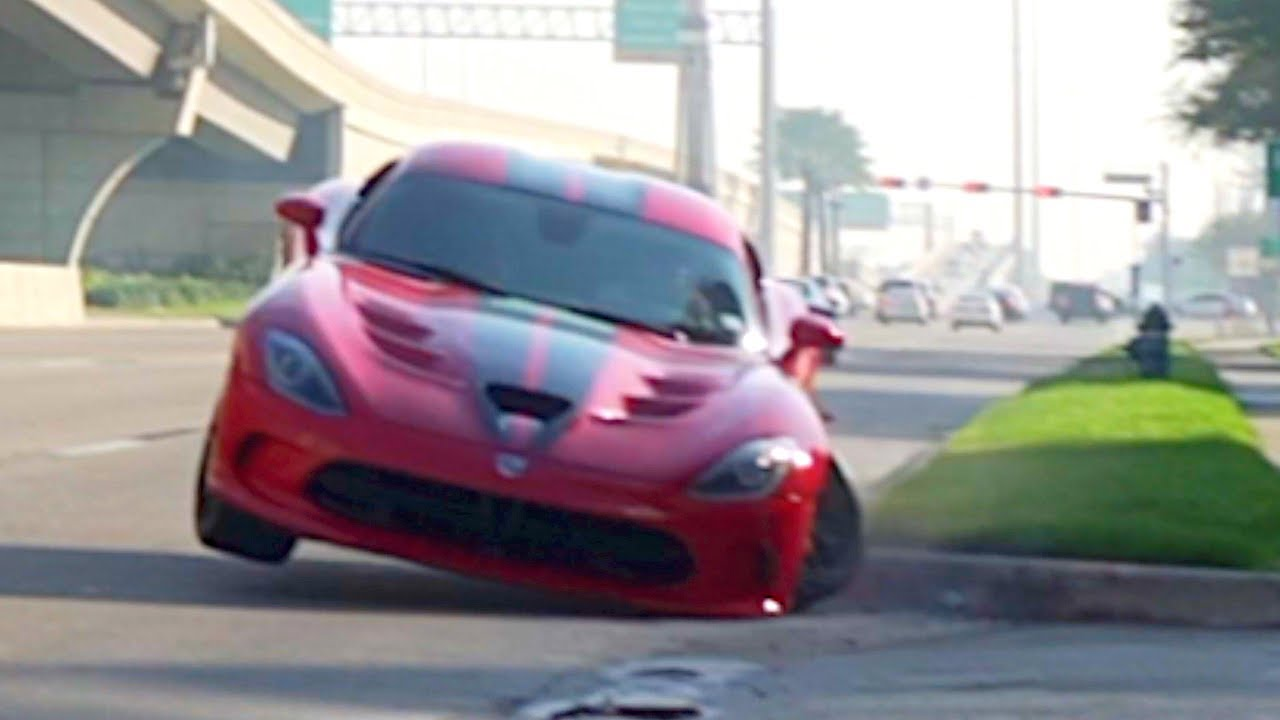 Viper Crash - Cars and Coffee Houston - YouTube