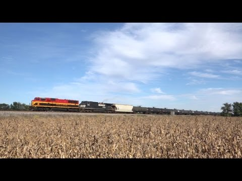 CSX Trains Through Ohio & Indiana