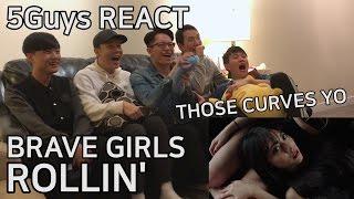 [so spicy] brave girls (브레이브걸스) - 롤린 (rollin') 5guys mv react