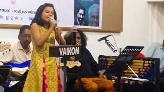 Sreya jayadeep latest song singing sravana chandrika M jayachandran. Sweet sreyakutty