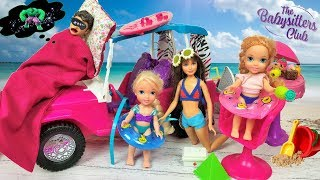 Anna and Elsa Toddlers Trip To Malibu - Barbie Skipper Babysitting Inc Dolls - Beach Vacation - Toys