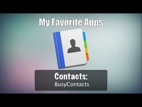 BusyContacts: My Favorite Contacts App