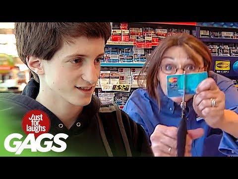 Crazy Cashier Tears Credit Card Apart - Throwback Thursday