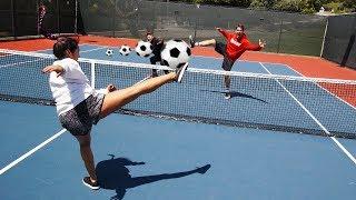 SOCCER TENNIS vs PRO SOCCER FREESTYLER!