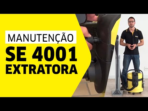 extratora k rcher se 4001 manuten o youtube. Black Bedroom Furniture Sets. Home Design Ideas