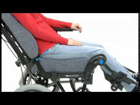 silla de ruedas reclinable y basculante