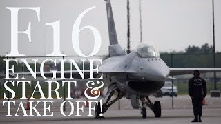 F16 Engine Start and Take Off