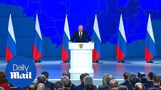 Vladimir Putin criticises America for 'neglecting' the INF treaty