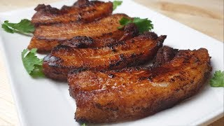 JUICY FRIED PORK BELLY RECIPE #letscookwithelle