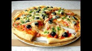 Домашняя ПИЦЦА «КАК Я ЛЮБЛЮ» Вкуснее, чем в Любимой Пиццерии!