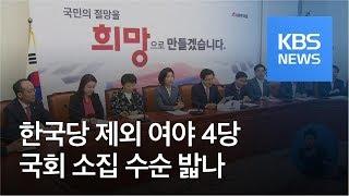 한국당 제외 4당, 국회 소집 수순 밟나 / KBS뉴스(News)