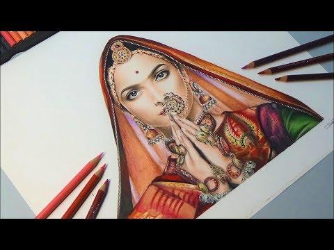 Drawing Deepika Padukone | Padmavati | Tiziana T