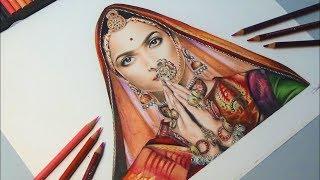 Drawing Deepika Padukone | Padmavati | Shri Lakshmi Arts