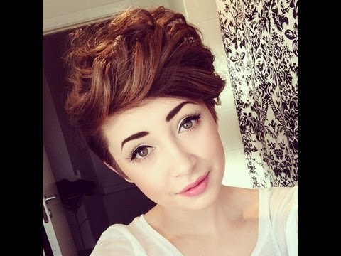 how to style short hair big curls doovi
