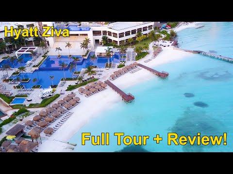 Incredible! HYATT ZIVA CANCUN, Full Tour + Review!