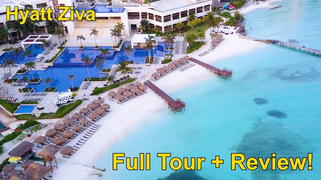 Incredible! HYATT ZIVA CANCUN, Full Tour + Review! on