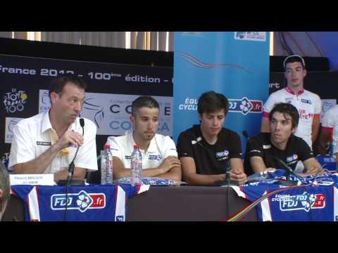 Tour de France 2013, J-2 : Conférence de presse FDJ.fr