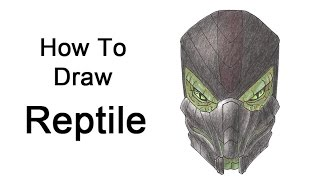 How to Draw Reptile from Mortal Kombat