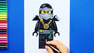 How to draw and color Cole - LEGO Ninjago