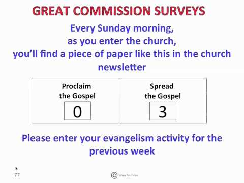 Great Commission surveys version 1