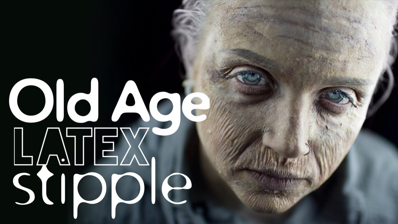 Old Age Latex Stipple Makeup Tutorial - YouTube
