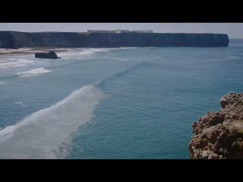 Overview of Tonel beach in Sagres, Portugal