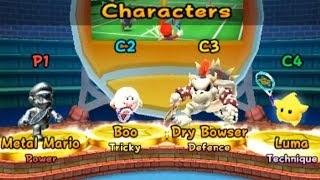 Mario Tennis Open - All Characters