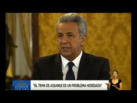 Presidente equatoriano diz que Assange é um