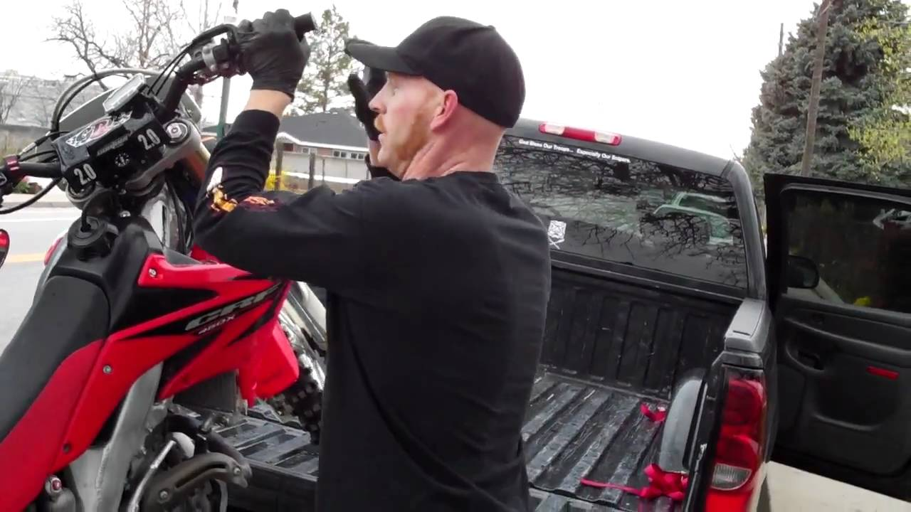 How To Load Unload Your Dirtbike Without A Ramp Youtube